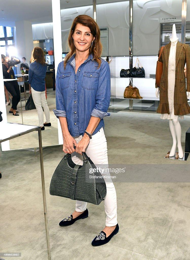 Actress Nia Vardalos attends the Exclusive Launch of Altuzarra Handbags with Joseph Altuzarra at Barneys New York Beverly Hills on September 24 2015...