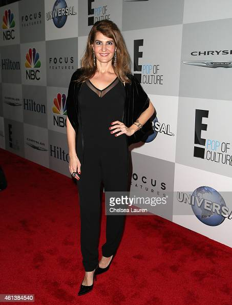 Actress Nia Vardalos attends the NBCUniversal 2015 Golden Globe Awards Party sponsored by Chrysler at The Beverly Hilton Hotel on January 11 2015 in...