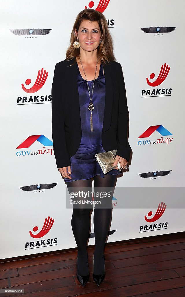 Actress <a gi-track='captionPersonalityLinkClicked' href=/galleries/search?phrase=Nia+Vardalos&family=editorial&specificpeople=201549 ng-click='$event.stopPropagation()'>Nia Vardalos</a> attends the Philhellenes Gala at SkyBar at the Mondrian Los Angeles on October 9, 2013 in West Hollywood, California.