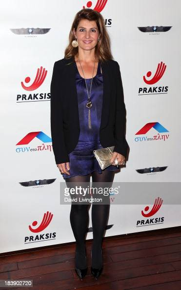 Actress Nia Vardalos attends the Philhellenes Gala at SkyBar at the Mondrian Los Angeles on October 9 2013 in West Hollywood California