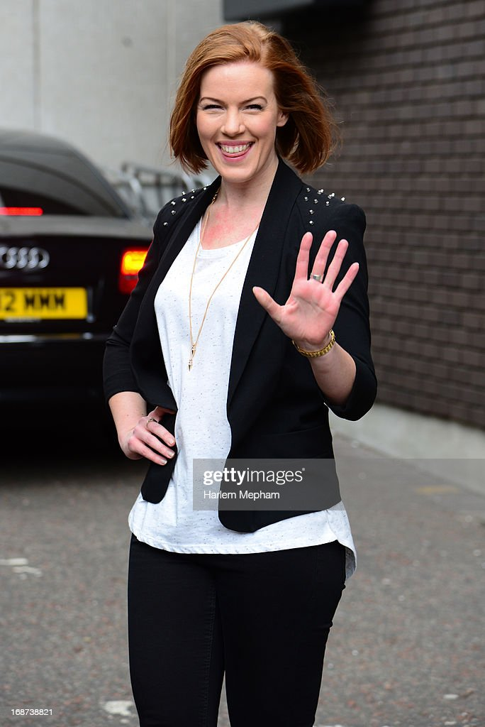 Actress Niamh McGrady sighted leaving ITV studios on May 14, 2013 in London, England.