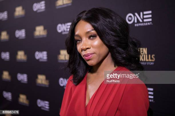 Actress Niatia quotLil' Mamaquot Kirkland who plays Falicia Blakely poses for a photo on the red carpet at TV One's DC Premiere of When Love Kills...