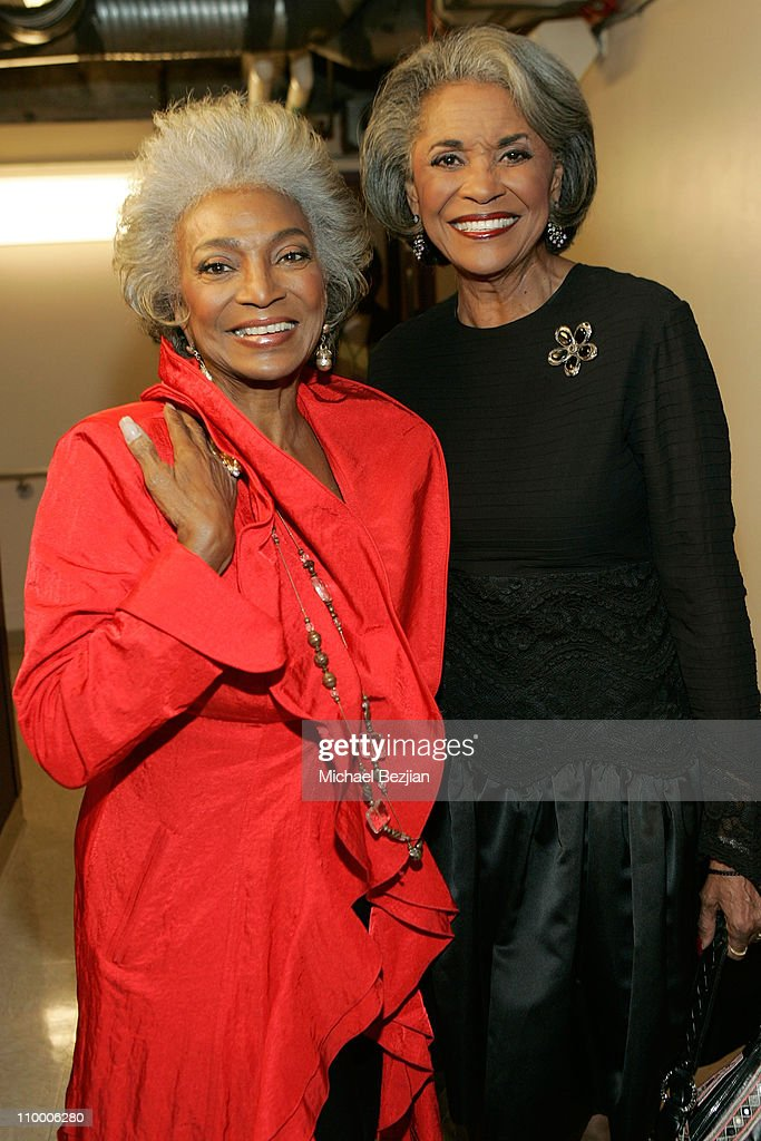 Actress Nichelle Nichols and singer Nancy Wilson backstage at The Thelonious Monk Institute of Jazz and The Recording Academy Los Angeles chapter...