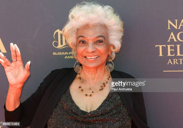 Actress Nichelle Nichols attends the 44th annual Daytime Emmy Awards at The Pasadena Civic Auditorium on April 30 2017 in Pasadena California