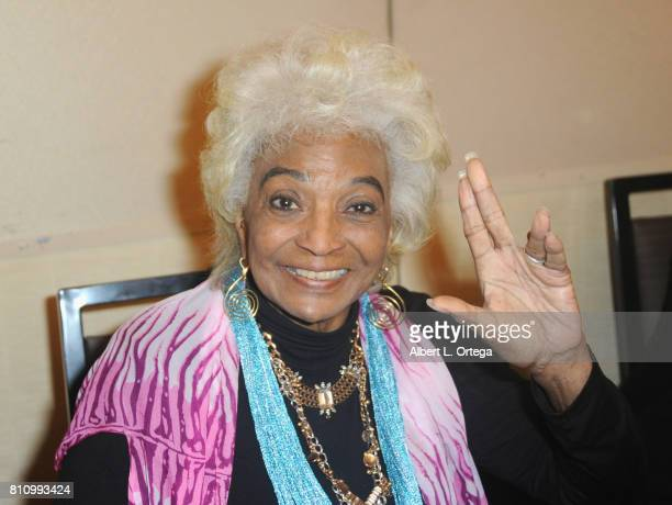 Actress Nichelle Nichols signs autographs at The Hollywood Show held at Westin LAX Hotel on July 8 2017 in Los Angeles California
