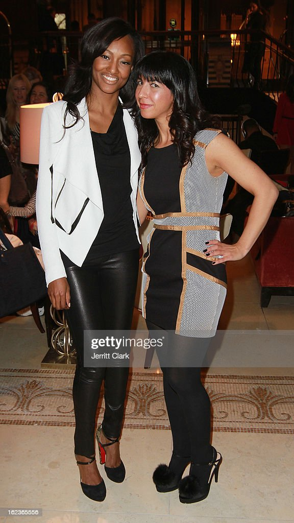 Actress Nichole Galicia and Claudine DeSola, Owner of Caravan Stylist Studio attend the Caravan Stylist Studio New York Presentation at the Carlton Hotel on February 12, 2013 in New York City.