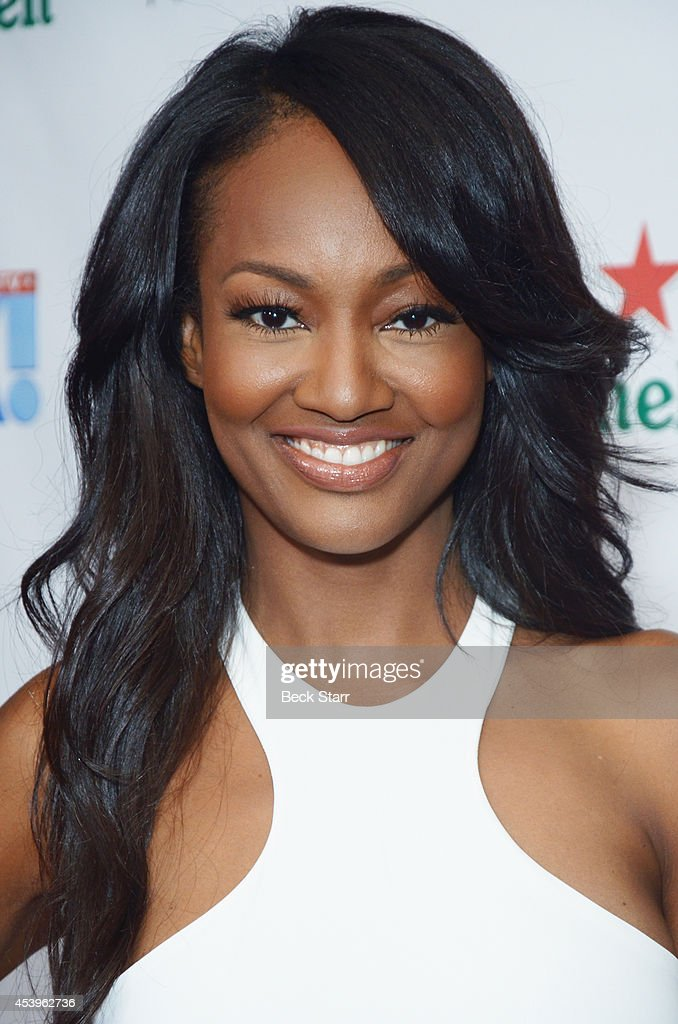 Actress <a gi-track='captionPersonalityLinkClicked' href=/galleries/search?phrase=Nichole+Galicia&family=editorial&specificpeople=9766932 ng-click='$event.stopPropagation()'>Nichole Galicia</a> arrives at OK! TV Emmy pre-awards party honoring the Emmy nominees and presenters at Sofitel Hotel on August 21, 2014 in Los Angeles, California.