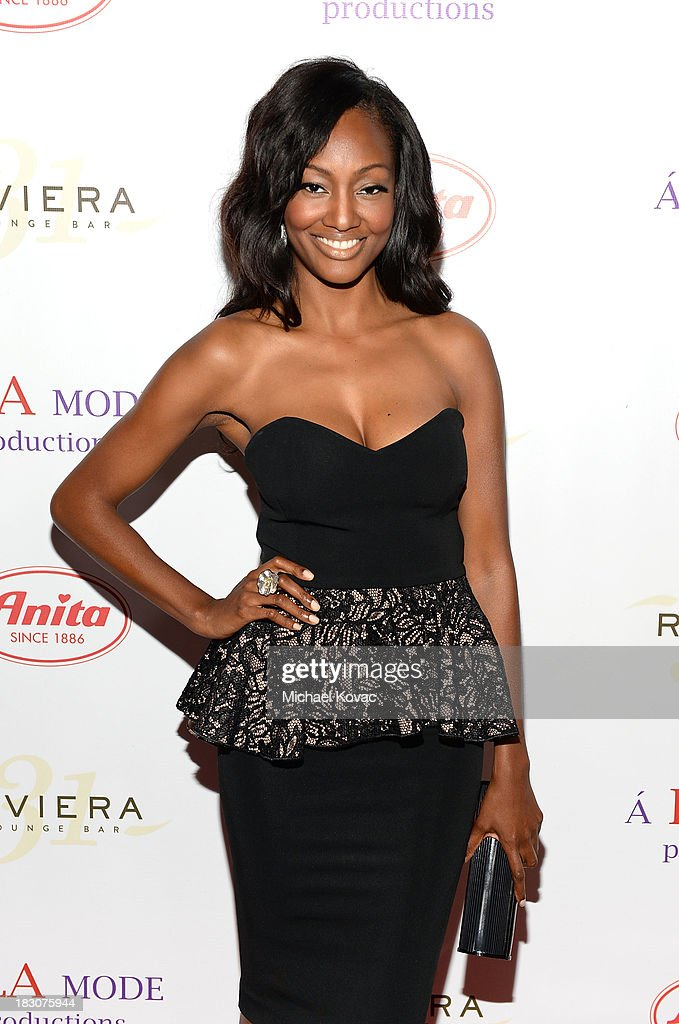 Actress <a gi-track='captionPersonalityLinkClicked' href=/galleries/search?phrase=Nichole+Galicia&family=editorial&specificpeople=9766932 ng-click='$event.stopPropagation()'>Nichole Galicia</a> arrives for A la mode Productions Presents Designers Night Out at Sofitel Hotel on October 3, 2013 in Los Angeles, California.