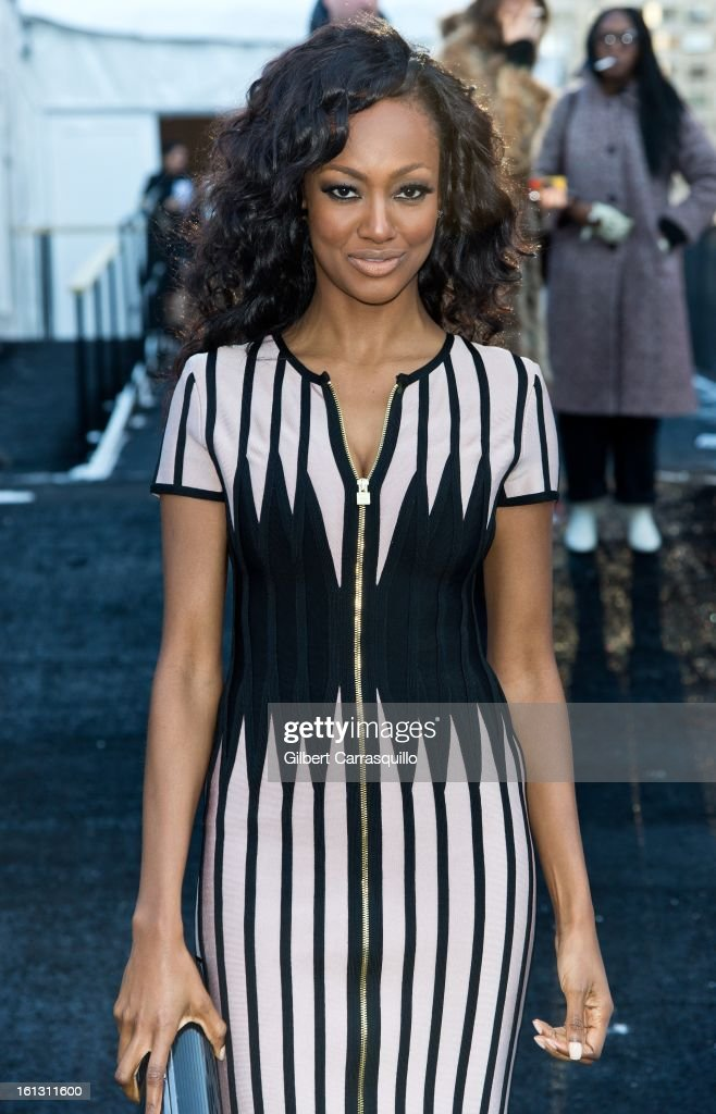 Actress Nichole Galicia attends Fall 2013 Mercedes-Benz Fashion Show at The Theater at Lincoln Center on February 9, 2013 in New York City.