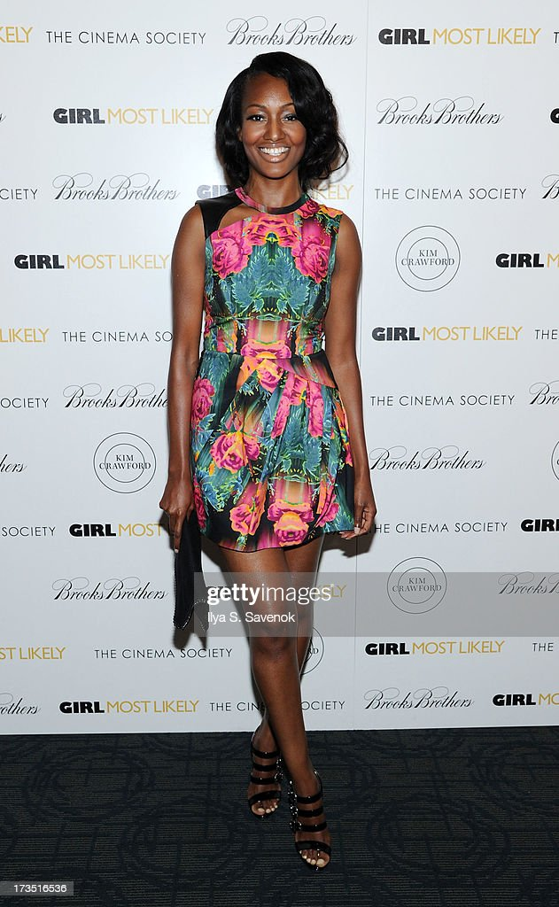 Actress Nichole Galicia attends The Cinema Society & Brooks Brothers Host A Screening Of Lionsgate And Roadside Attractions' 'Girl Most Likely's at Landmark Sunshine Cinema on July 15, 2013 in New York City.