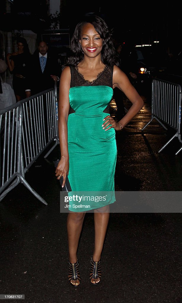 Actress Nichole Galicia attends the Dolce & Gabbana and The Cinema Society screening of the Epix World premiere of 'Madonna: The MDNA Tour' at The Paris Theatre on June 18, 2013 in New York City.