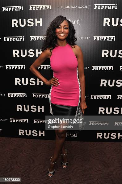 Actress Nichole Galicia attends the Ferrari and The Cinema Society Screening of 'Rush' at Chelsea Clearview Cinemas on September 18 2013 in New York...
