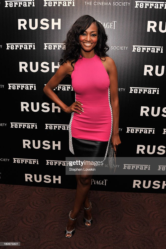 Actress Nichole Galicia attends the Ferrari and The Cinema Society Screening of 'Rush' at Chelsea Clearview Cinemas on September 18, 2013 in New York City.