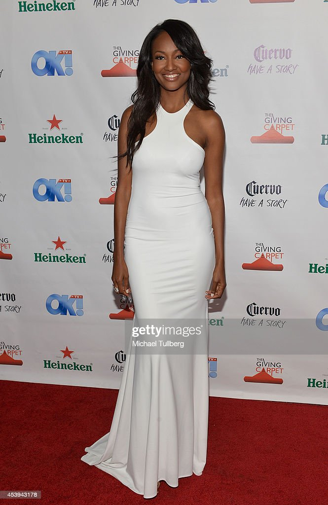 Actress <a gi-track='captionPersonalityLinkClicked' href=/galleries/search?phrase=Nichole+Galicia&family=editorial&specificpeople=9766932 ng-click='$event.stopPropagation()'>Nichole Galicia</a> attends the OK! TV Awards Party at Sofitel Hotel on August 21, 2014 in Los Angeles, California.