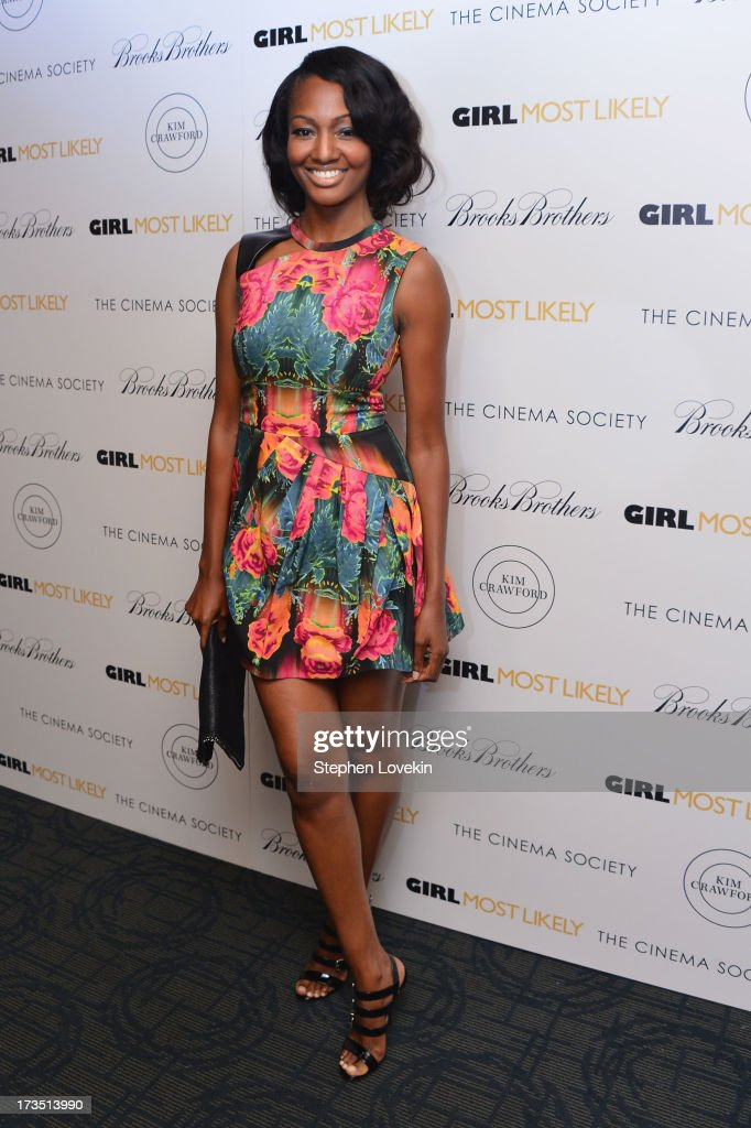 Actress Nichole Galicia attends the screening of Lionsgate and Roadside Attractions' 'Girl Most Likely' hosted by The Cinema Society & Brooks Brothers at Landmark's Sunshine Cinema on July 15, 2013 in New York City.