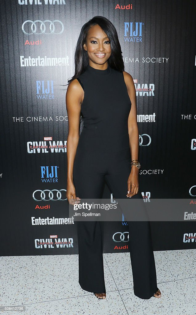 Actress Nichole Galicia attends the screening of Marvel's 'Captain America: Civil War' hosted by The Cinema Society with Audi & FIJI at Brookfield Place on May 4, 2016 in New York City.