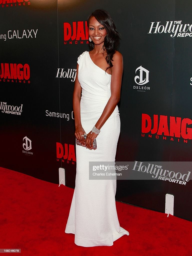 Actress Nichole Galicia attends The Weinstein Company With The Hollywood Reporter, Samsung Galaxy And The Cinema Society Host A Screening Of 'Django Unchained' at Ziegfeld Theater on December 11, 2012 in New York City.