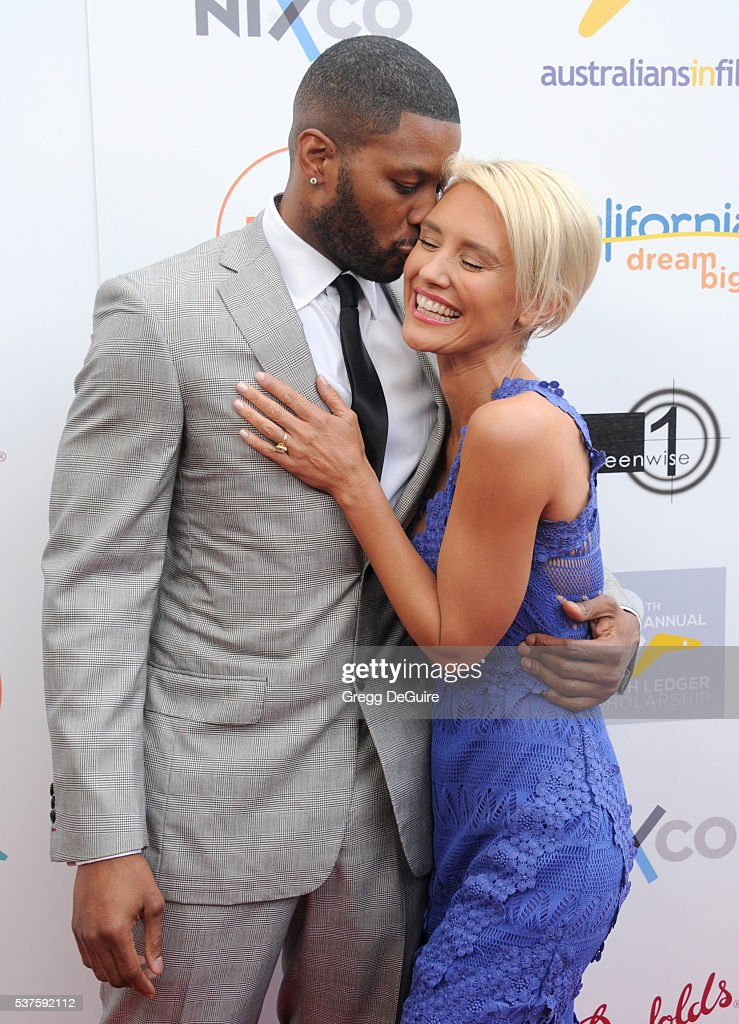 Actress Nicky Whelan and Kerry Rhodes arrive at Australians In Film Heath Ledger Scholarship Dinner on June 1 2016 in Beverly Hills California