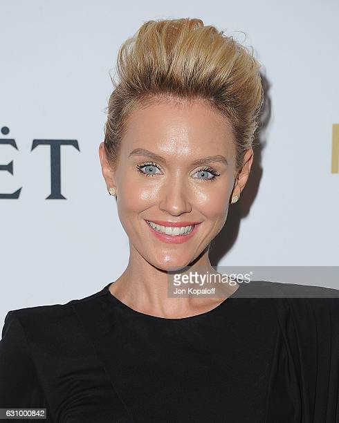 Actress Nicky Whelan arrives at Moet And Chandon Celebrates 2nd Annual Moet Moment Film Festival And Kick Off Of Golden Globes Week at Doheny Room on...