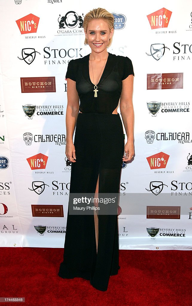 Actress <a gi-track='captionPersonalityLinkClicked' href=/galleries/search?phrase=Nicky+Whelan&family=editorial&specificpeople=642364 ng-click='$event.stopPropagation()'>Nicky Whelan</a> arrives at the 40th Anniversary StockCross Party on July 25, 2013 in Beverly Hills, California.