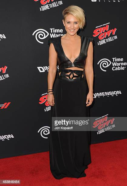 Actress Nicky Whelan arrives at the Los Angeles Premiere 'Sin City A Dame To Kill For' at TCL Chinese Theatre on August 19 2014 in Hollywood...