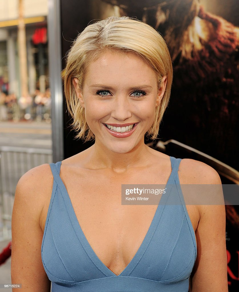 Actress Nicky Whelan arrives at the premiere of New Line's 'A Nightmare on Elm Street' at the Chinese Theater on April 27, 2010 in Los Angeles, California.