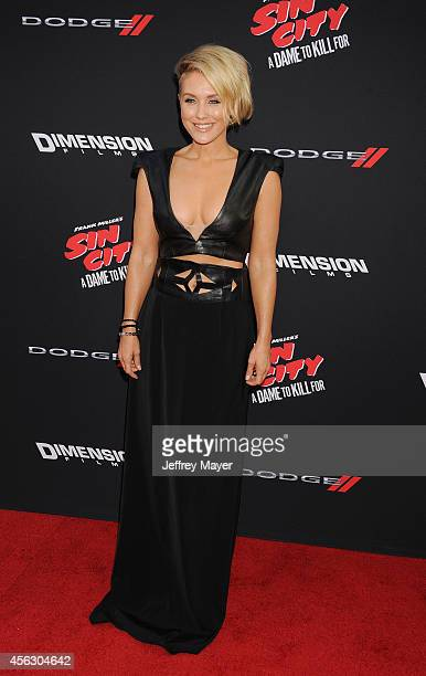Actress Nicky Whelan arrives at the 'Sin City A Dame To Kill For' Los Angeles Premiere at TCL Chinese Theatre on August 19 2014 in Hollywood...