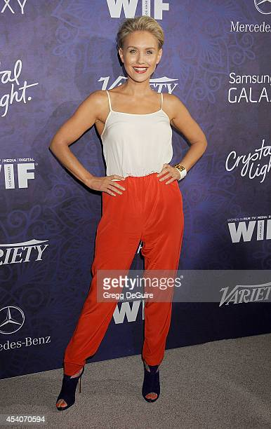 Actress Nicky Whelan arrives at the Variety And Women In Film Annual PreEmmy Celebration at Gracias Madre on August 23 2014 in West Hollywood...