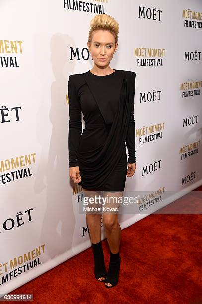Actress Nicky Whelan attends Moet Chandon Celebrates The 2nd Annual Moet Moment Film Festival and Kicks off Golden Globes Week at Doheny Room on...