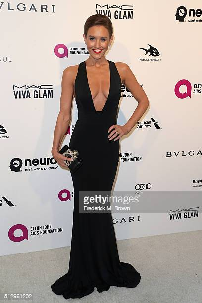 Actress Nicky Whelan attends the 24th Annual Elton John AIDS Foundation's Oscar Viewing Party on February 28 2016 in West Hollywood California