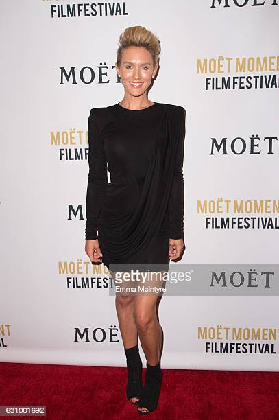 Actress Nicky Whelan attends the 2nd Annual Moet Moment Film Festival and Kick Off of Golden Globes Week at Doheny Room on January 4 2017 in West...