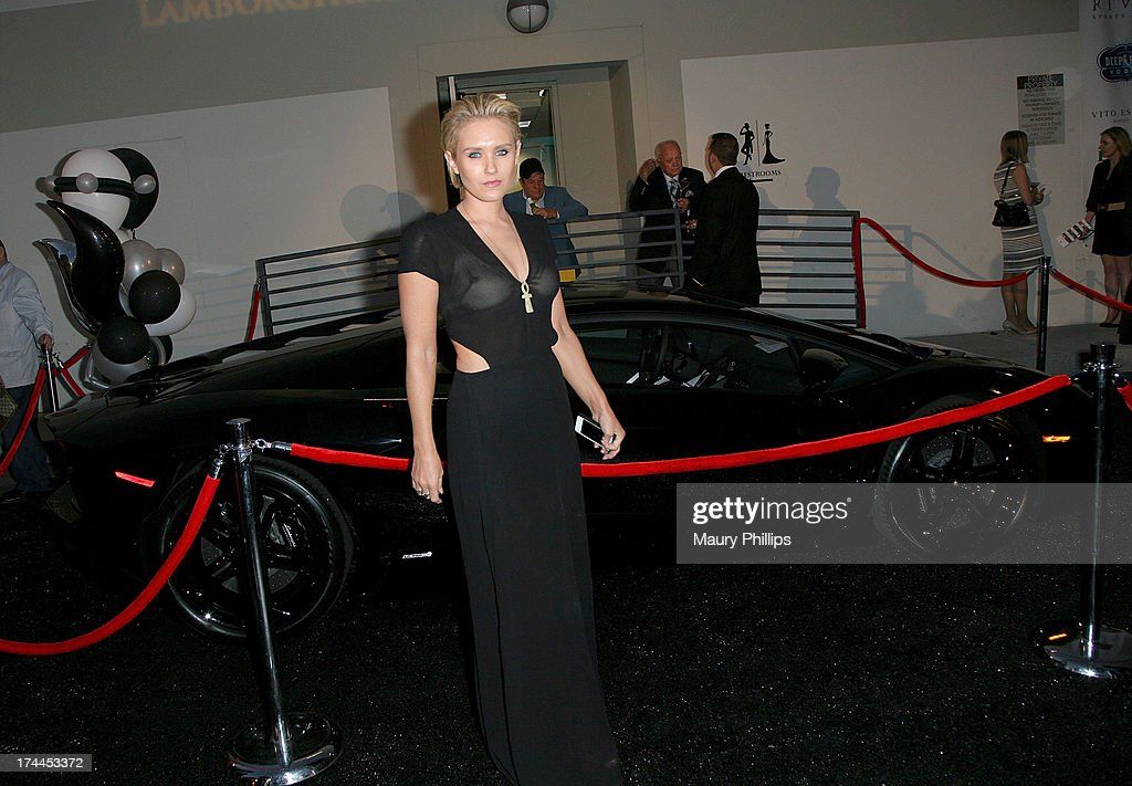Actress <a gi-track='captionPersonalityLinkClicked' href=/galleries/search?phrase=Nicky+Whelan&family=editorial&specificpeople=642364 ng-click='$event.stopPropagation()'>Nicky Whelan</a> attends the 40th Anniversary StockCross Party on July 25, 2013 in Beverly Hills, California.