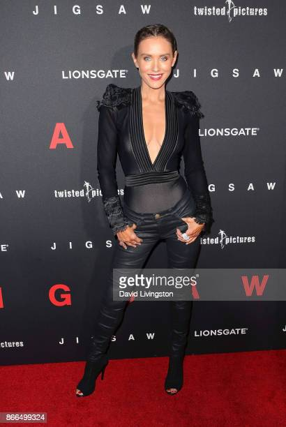 Actress Nicky Whelan attends the premiere of Lionsgate's 'Jigsaw' at ArcLight Hollywood on October 25 2017 in Hollywood California