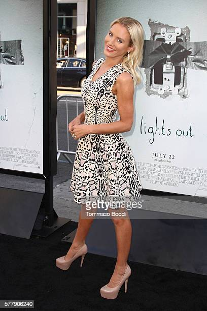 Actress Nicky Whelan attends the premiere of New Line Cinema's 'Lights Out' at TCL Chinese Theatre on July 19 2016 in Hollywood California