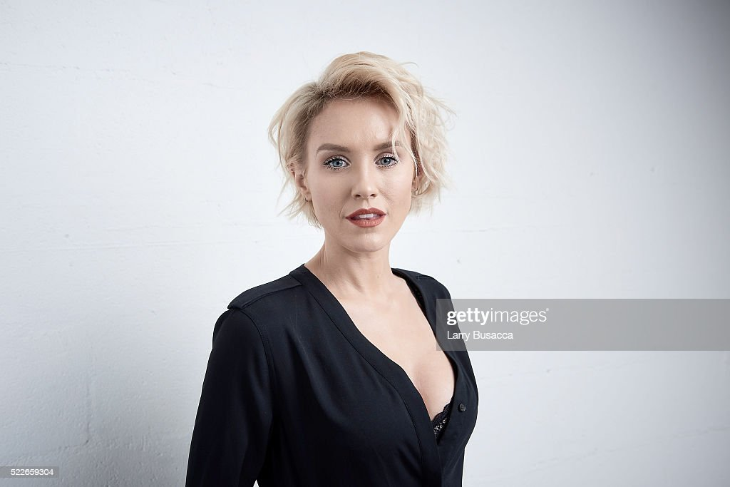 Actress Nicky Whelan from 'Rebirth' poses at the Tribeca Film Festival Getty Images Studio on April 19, 2016 in New York City.