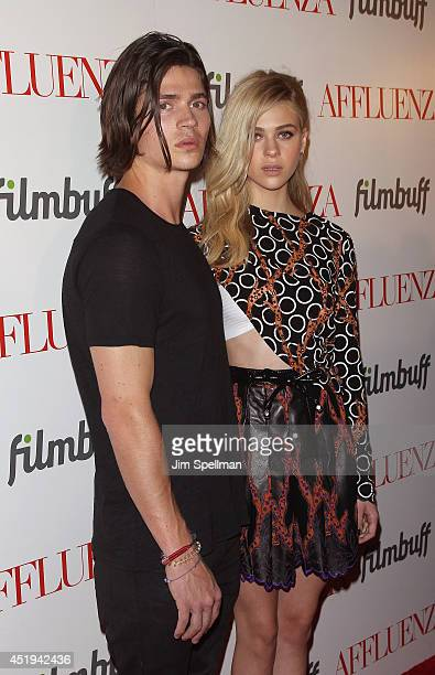 Actress Nicola Peltz and brother attend the 'Affluenza' premiere at SVA Theater on July 9 2014 in New York City