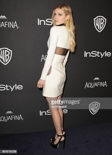 Actress Nicola Peltz arrives at the 2016 InStyle And Warner Bros 73rd Annual Golden Globe Awards PostParty at The Beverly Hilton Hotel on January 10...
