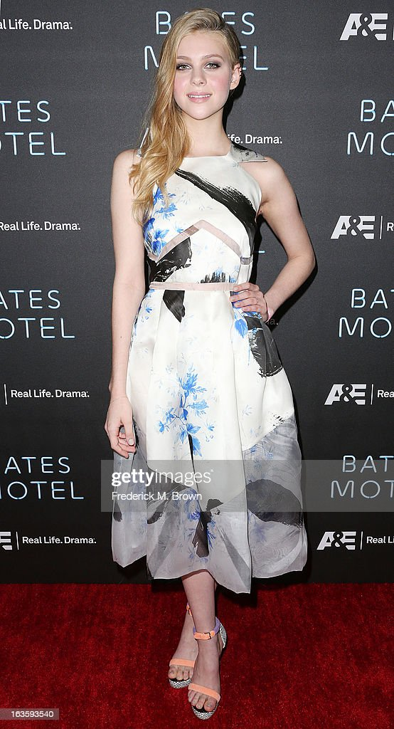 Actress Nicola Peltz attends the Premiere of A&E Network's 'Bates Motel' at the Soho House West Hollywood, on March 12, 2013 in West Hollywood, California.