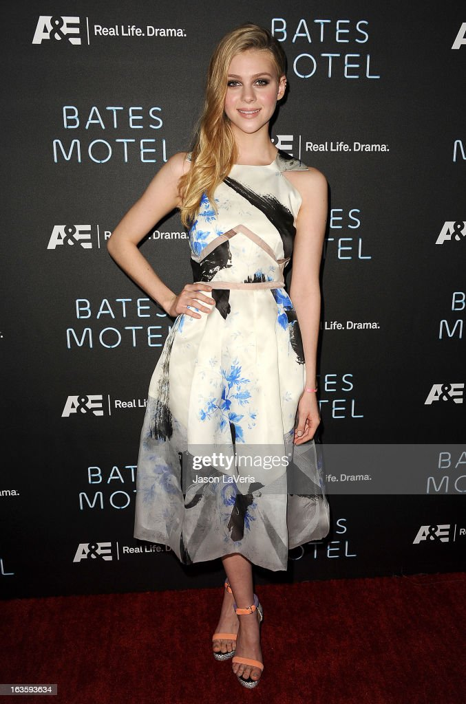 Actress Nicola Peltz attends the premiere of 'Bates Motel' at Soho House on March 12, 2013 in West Hollywood, California.