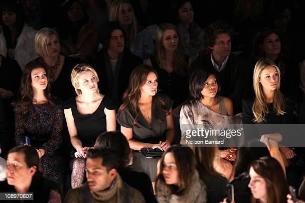 Actress Nicola Peltz Lorraine Nicholson Actress Jennifer Love Hewitt Actress Taraji P Henson and actress Katrina Bowden attend the BCBG Max Azria...