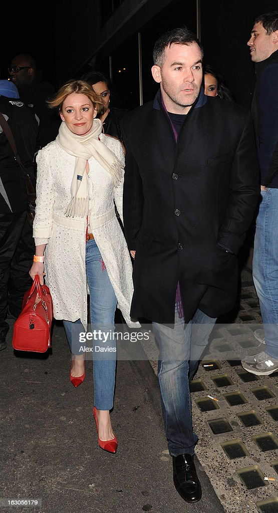 Actress Nicola Stapleton arrives at Whisky Mist on March 3, 2013 in London, England.