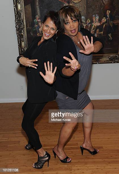 Actress Nicole Ari Parker and actress/comedienne Kym Whitley attend the '35 And Ticking' Film Wrap Party on May 28 2010 in Woodland Hills California