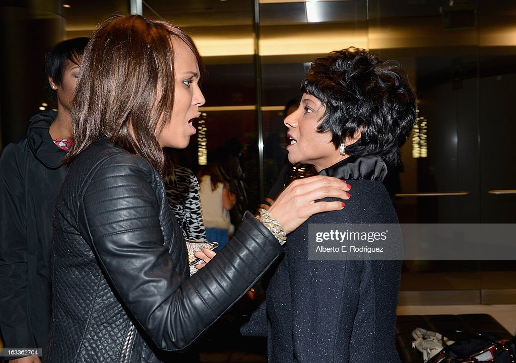 Actress Nicole Ari Parker and Chief Diversity Officer & Global Director of Education and External Relations for Intel Roz Hudnell attend a special screening of 10x10's 'Girl Rising' hosted by Intel on March 7, 2013 in Los Angeles, California.