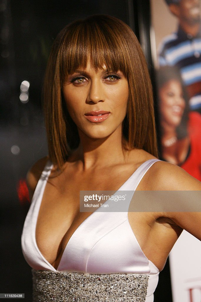 Actress Nicole Ari Parker arrives at the Los Angeles premiere of 'Welcome Home Roscoe Jenkins' held at the Grauman's Chinese on January 28 2008 in...
