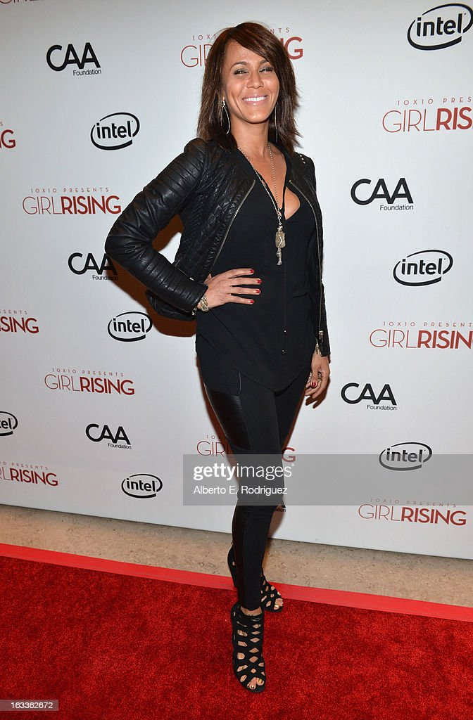 Actress Nicole Ari Parker attends a special screening of 10x10's 'Girl Rising' hosted by Intel on March 7, 2013 in Los Angeles, California.