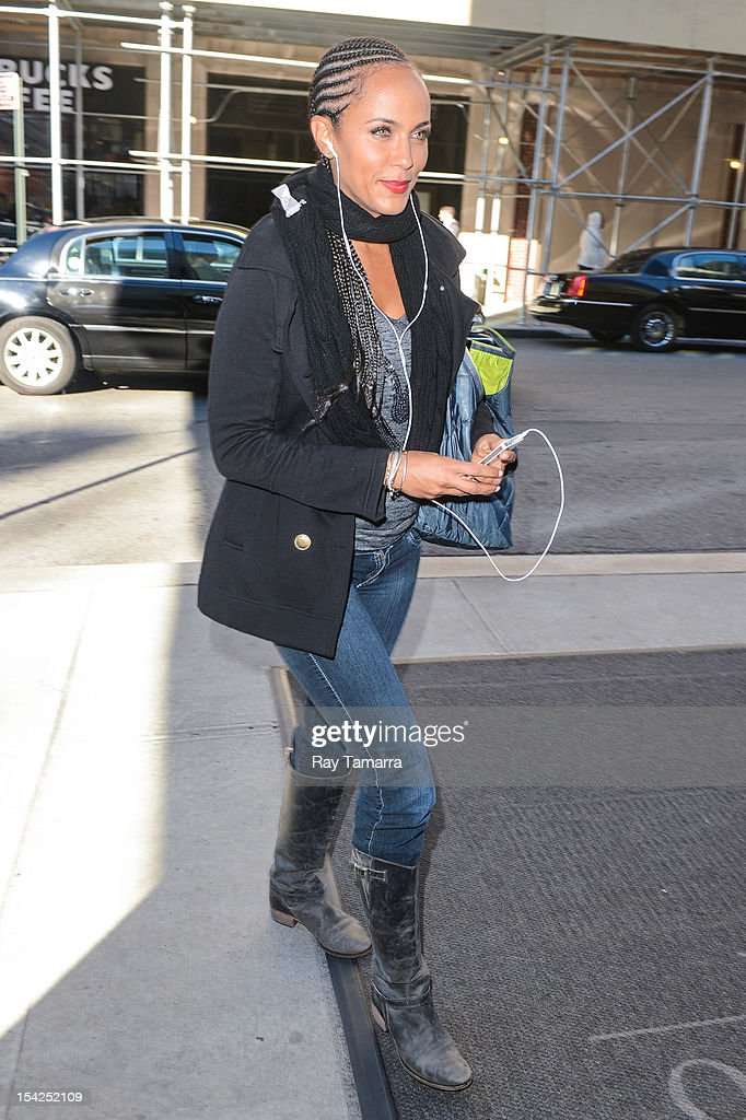 Actress Nicole Ari Parker enters a Soho hotel on October 16, 2012 in New York City.