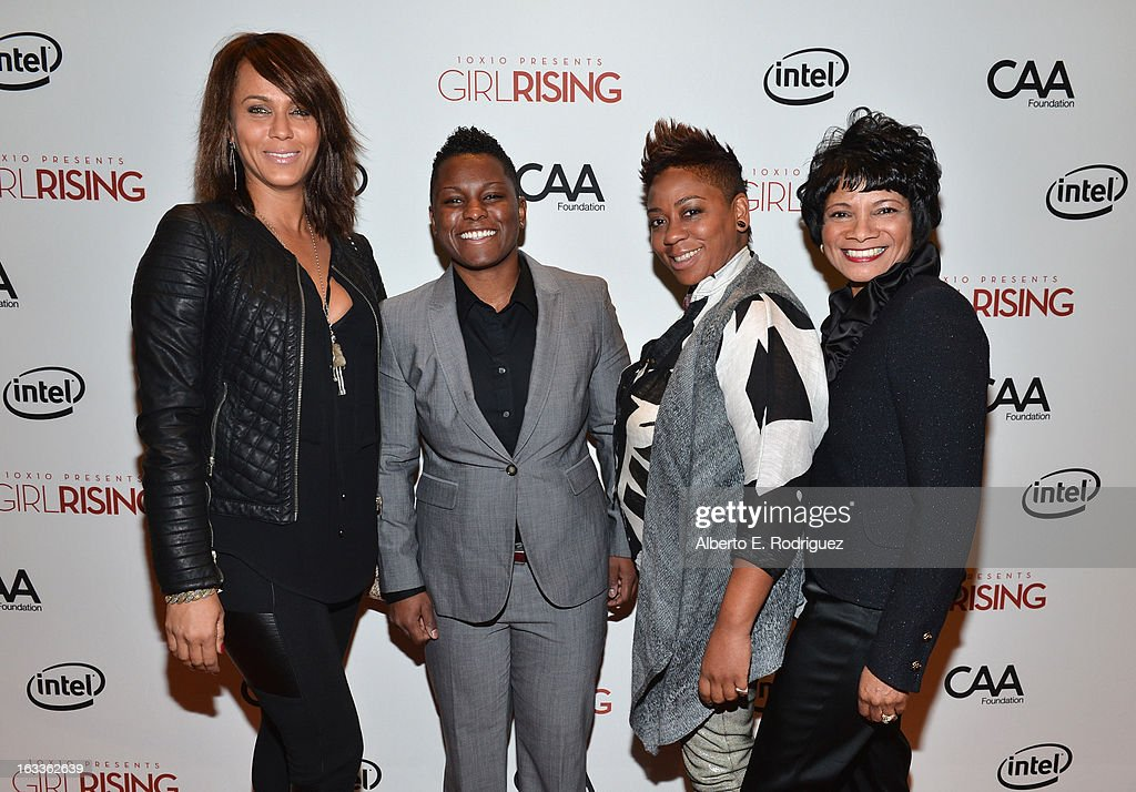 Actress Nicole Ari Parker, Melanie August, producer Nia Hill and Chief Diversity Officer & Global Director of Education and External Relations for Intel Roz Hudnell attend a special screening of 10x10's 'Girl Rising' hosted by Intel on March 7, 2013 in Los Angeles, California.