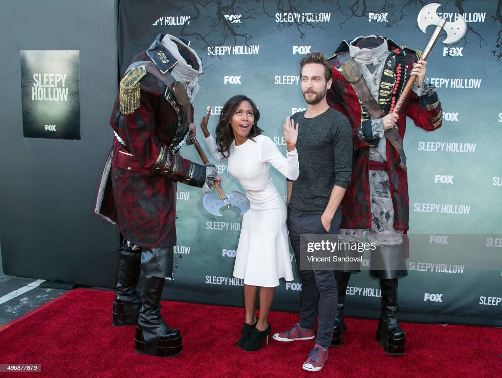 Actress Nicole Beharie (L) and actor Tom Mison attend Los Angeles special screening and Q&A of FOX's 'Sleepy Hollow' at Hollywood Forever on June 2, 2014 in Hollywood, California.
