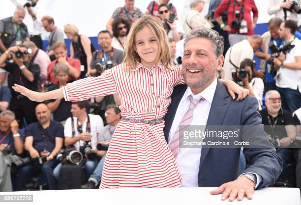 Actress Nicole Centanni and director Sergio Castellitto attend the 'Fortunata' photocall during the 70th annual Cannes Film Festival at Palais des...