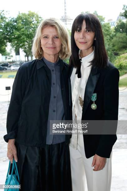 Actress Nicole Garcia and Bouchra Jarrar attend Artistic Director of Lanvin Bouchra Jarrar is Decorated 'Officier de l'Ordre des Arts et des Lettres'...